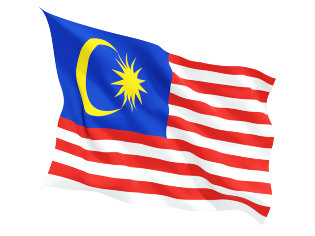 malaysia fluttering flag 640