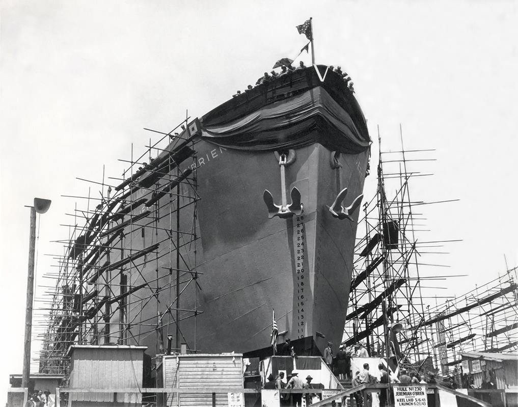 SS Jeremiah O'Brien launched
